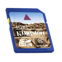 - Kingston SD High Capacity card 16GB Class4